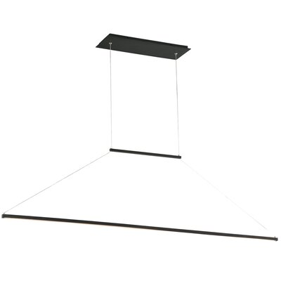 E=MC2 1-Light LED Kitchen Island Pendant Finish: Brushed Black
