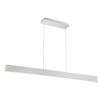 Volo 1-Light LED Kitchen Island Pendant Finish: Brushed Aluminum