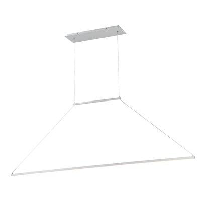 E=MC2 1-Light LED Kitchen Island Pendant Finish: Brushed Aluminum