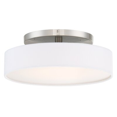Galloway 1 Light Brushed Nickel Convertible Semi Flush Mount