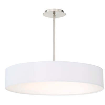 Galloway Modern 1-Light LED Drum Pendant