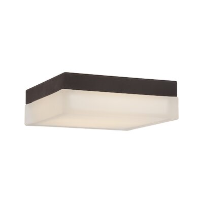 Venuti Flush Mount Finish: Bronze, Bulb Color Temperature: 2700K, Size: 3 H x 9 W x 9 D