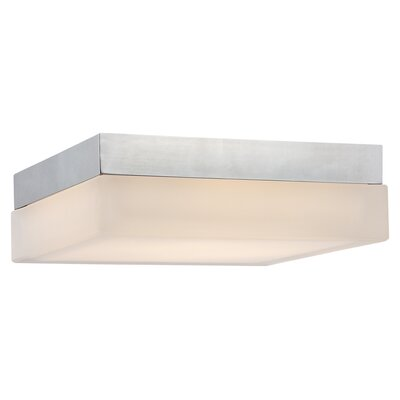 Venuti Flush Mount Finish: Chrome, Bulb Color Temperature: 3000K, Size: 3 H x 9 W x 9 D
