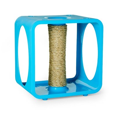 Gym Cube Scratching Post Color: Blue