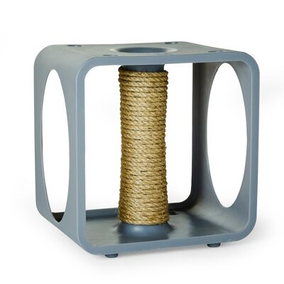 Levins Gym Cube Scratching Post Color: Gray