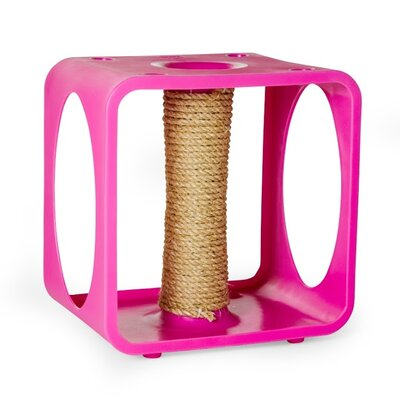 Gym Cube Scratching Post Color: Pink