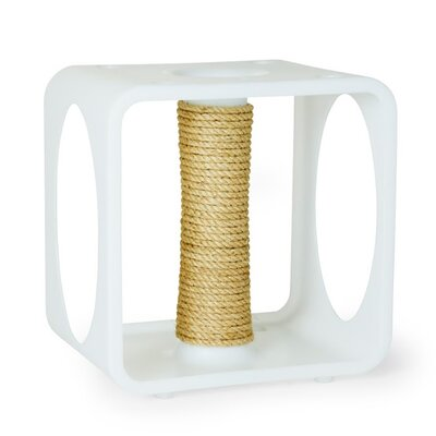 Levins Gym Cube Scratching Post Color: White