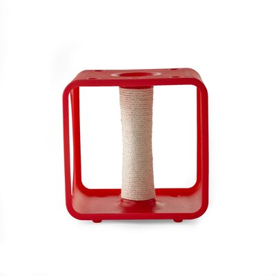 Levins Gym Cube Scratching Post Color: Red