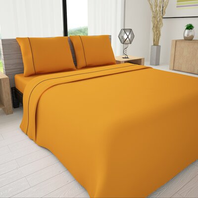 625 Egyptian quality cotton Sheet Set Size: King, Color: Yellow