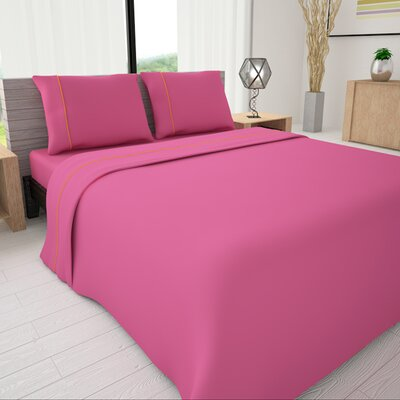 625 Egyptian quality cotton Sheet Set Size: Twin, Color: Fuchsia