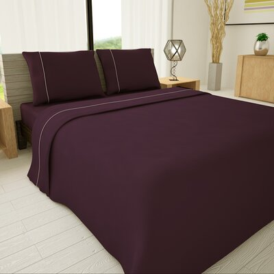 625 Egyptian quality cotton Sheet Set Size: Full, Color: Purple