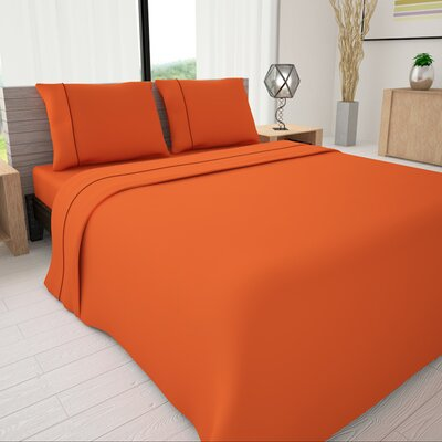 625 Egyptian quality cotton Sheet Set Size: Queen, Color: Orange