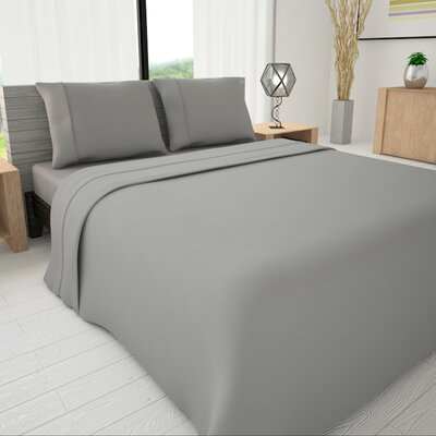 625 Egyptian quality cotton Sheet Set Size: Twin, Color: Gray