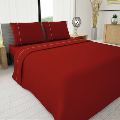 625 Egyptian quality cotton Sheet Set Size: Full, Color: Red