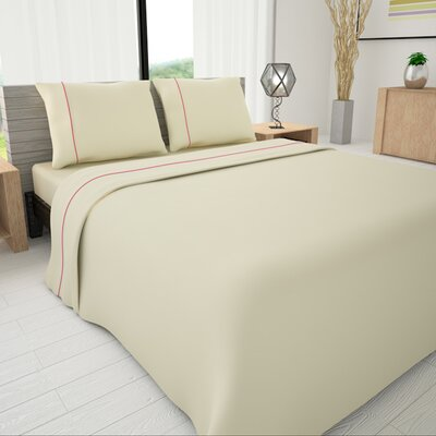 625 Egyptian quality cotton Sheet Set Size: King, Color: Ivory
