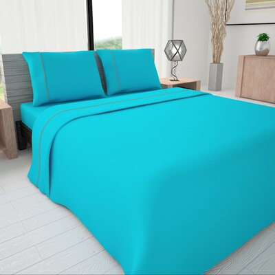 625 Egyptian quality cotton Sheet Set Size: Queen, Color: Turquoise