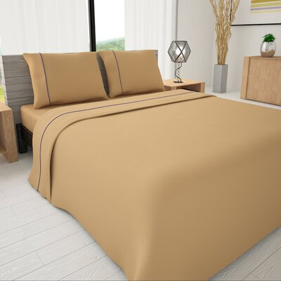 625 Egyptian quality cotton Sheet Set Size: Queen, Color: Tan