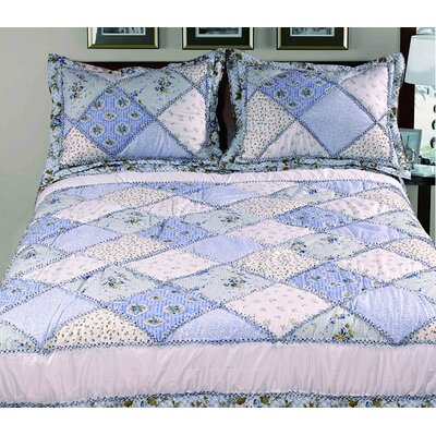 Randal 3 Piece Queen Bed in a Bag Set Color: Blue