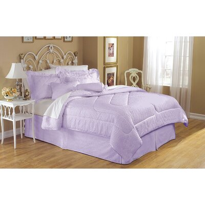 Eyelet 4 Piece Reversible King Bed in a Bag Set Color: Purple