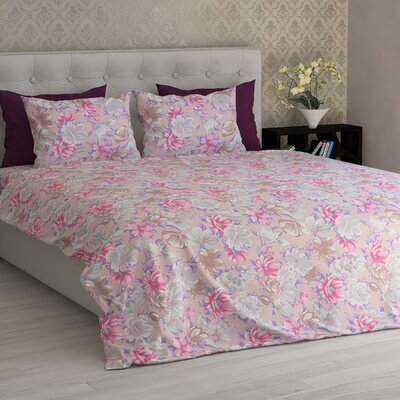 Mathilde Seamless Floral Essential Printed 1800 Thread Count 6 Piece Sheet Set Size: Queen