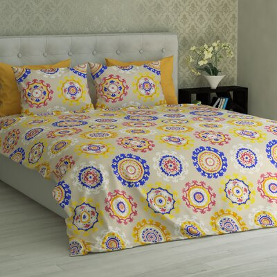 Barnard Mandala Essential Printed 1800 Thread Count 6 Piece Sheet Set Size: King