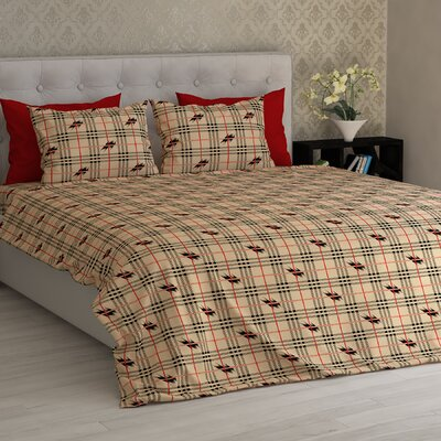 Barnard Electrical Squares Essential Printed 1800 Thread Count Sheet Set Size: Full/Double