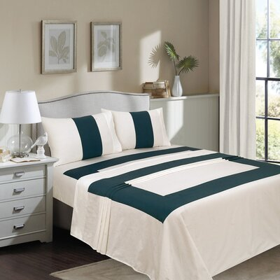 Tweedbrook 400 Thread Count 100% Cotton Sheet Set Color: White