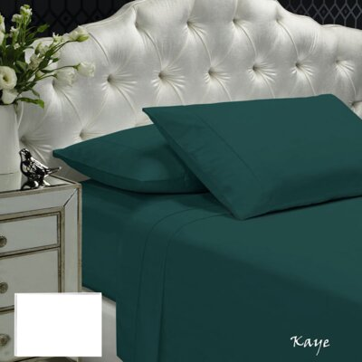 Womack 400 Thread Count 100% Cotton Sheet Set Size: Queen, Color: Kaya