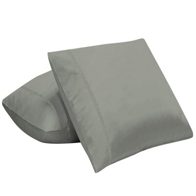 Coeure 100% Cotton Pillow Cover Color: Silver