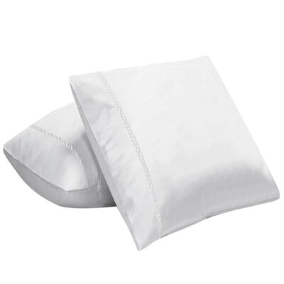 Coeure 100% Cotton Pillow Cover Color: White
