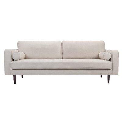 Freeman Sofa Upholstery: White Linen