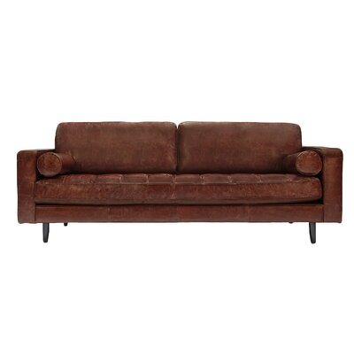 Freeman Sofa Upholstery: Distressed Brown Leather