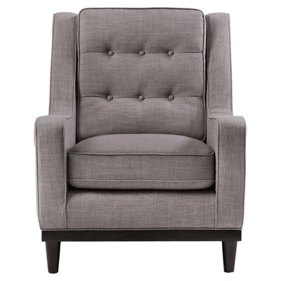 Freeman Armchair Color: Gray Tweed