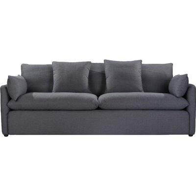 Cameron Sofa Upholstery: Charcoal Blue Linen