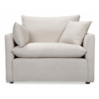 Cameron Armchair Color: White Linen