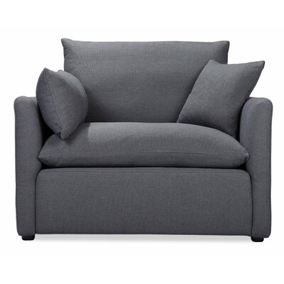 Cameron Armchair Color: Charcoal Blue Linen
