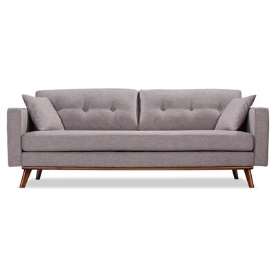 Frey Sofa Upholstery: Grey Tweed