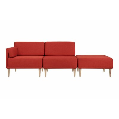 Knook Modular Sectional Upholstery: Polyester-Earth Red