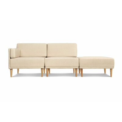 Knook Modular Sectional Upholstery: Linen/Cotton-Oatmeal