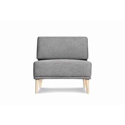 Knook Slipper Chair Upholstered: Gray Tweed
