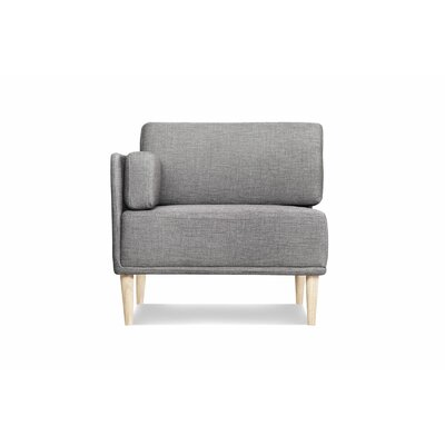 Knook Corner Chair and a Half Upholstered: Polyester-Gray Tweed