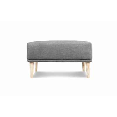 Knook Ottoman Upholstery: Gray Tweed