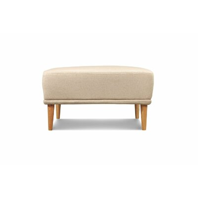 Knook Ottoman Upholstery: Oatmeal Linen