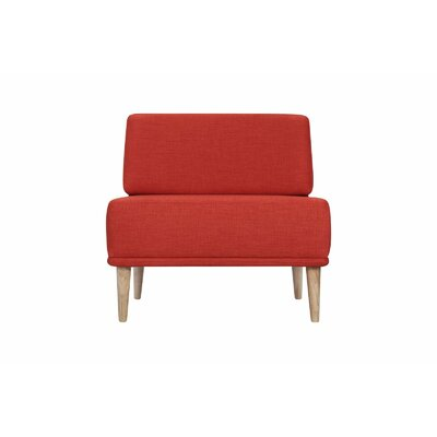 Knook Slipper Chair Upholstery: Earth Red