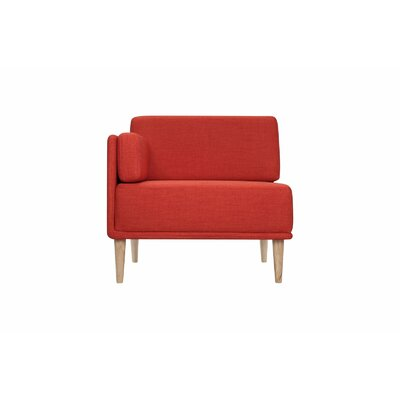 Knook Corner Chair and a Half Upholstered: Polyester-Earth Red