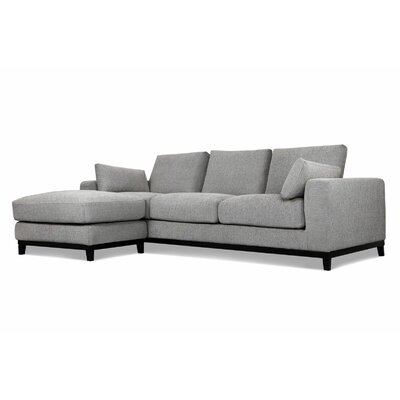 Kellan Sofa With Ottoman Upholstery: Light Gray