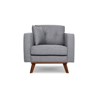 Frey Armchair Upholstered: Gray Tweed