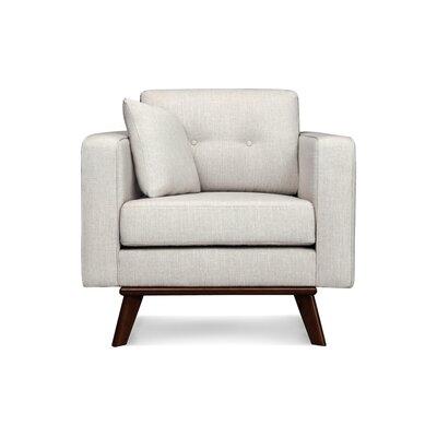 Frey Armchair Upholstered: White Linen