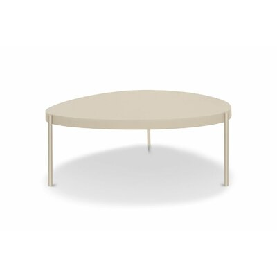 Mid Century Large Coffee Table Color: Taupe