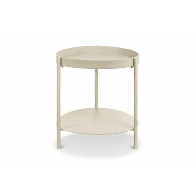 Mid Century End Table Color: Taupe